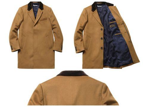 Supreme Wool Overcoat For $600 - Supreme Winter Coats