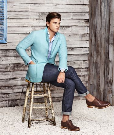 Clothing, Blue, Brown, Trousers, Collar, Denim, Textile, Shoe, Joint, Outerwear,