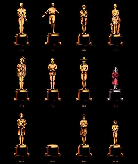 best picture statues illustrated oscars