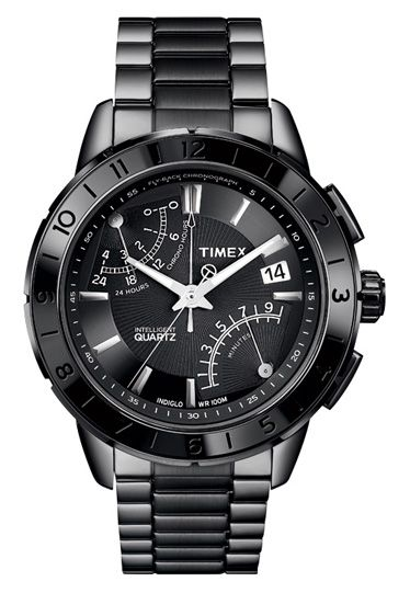 steel intelligent quartz fly-back chronograph by timex