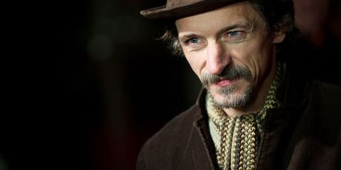 Lip, Hat, Mouth, Chin, Eyebrow, Facial hair, Outerwear, Style, Jaw, Collar,