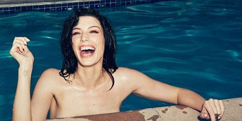 Mouth, Swimming pool, Summer, People in nature, Tooth, Barechested, Chest, Black hair, Muscle, Tongue,