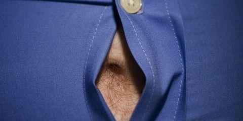 Collar, Textile, Electric blue, Cobalt blue, Space, Material property, Button,