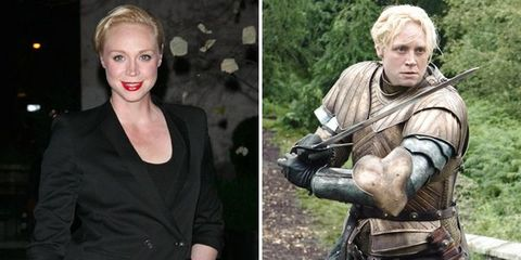 Sleeve, Blond, Collage, Armour, Body jewelry, Makeover, Belt, Button, Fictional character, Shotgun,