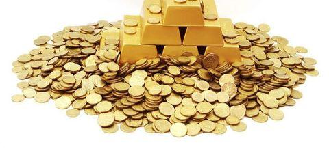 Money, Coin, Currency, Money handling, Treasure, Saving, Cash, Metal, Natural material, Brass,