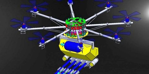 Space, Electric blue, Majorelle blue, Symmetry, Graphic design, Science, Satellite, Space station, 3d modeling, Graphics,