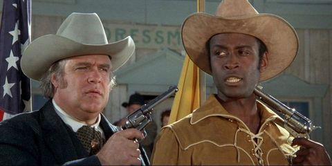 Hat, Sun hat, Headgear, Costume accessory, Cowboy hat, Fedora, Costume hat, Gunfighter, Shotgun, Wrinkle,
