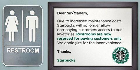 The Starbucks Disaster - Starbucks bathroom policy
