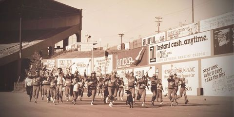 Crowd, Team, Active shorts, Endurance sports, Crew, Bicycles--Equipment and supplies, Running, History, Rugby player, Racing,