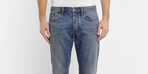 Clothing, Blue, Product, Denim, Pocket, Trousers, Jeans, Textile, White, Waist,