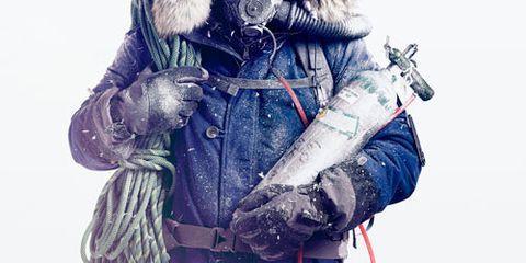 Jacket, Winter, Textile, Fur clothing, Parka, Glove, Fur, Bag, Natural material, Animal product,