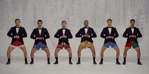 Leg, Trousers, Social group, Formal wear, Team, Suit trousers, Collaboration, Dance, Curtain, Dancer,