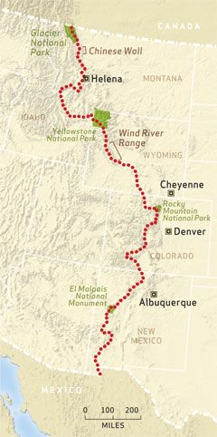 No The Continental Divide Trail - Cdt trail map