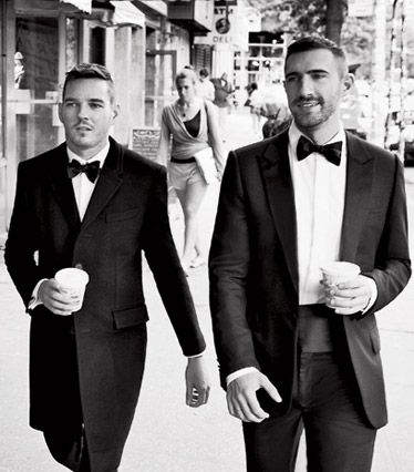 two men in tuxes