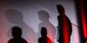 Standing, Shadow, Silhouette, Darkness, Back, Backlighting,