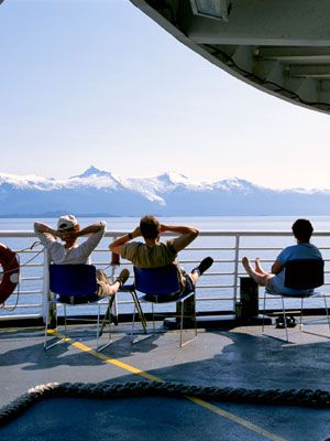 Mountain range, Leisure, Tourism, Watercraft, Swimming pool, Travel, Deck, Boat, Vacation, Glacial landform,