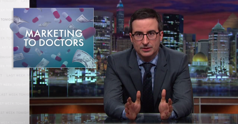Watch John Oliver Detail the Disturbing Ways Pharmaceutical Companies Market to Doctors