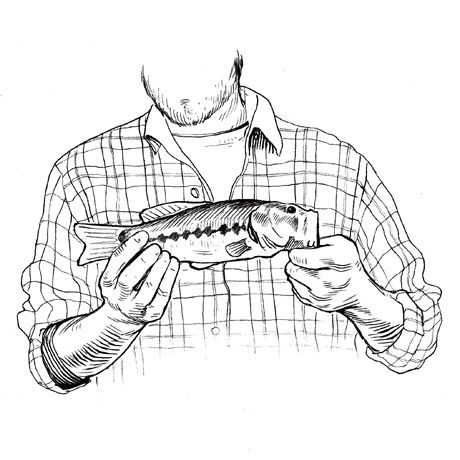 man holding a small fish