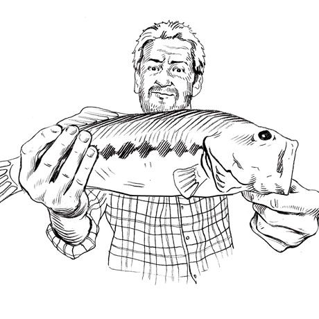 man holding large looking catch