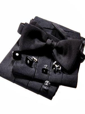 grey bow tie