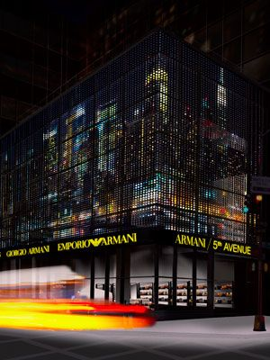 storefront of giorgio armani 5th avenue new york city store
