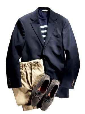 navy blue blazer outfit