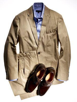 khaki blazer outfit