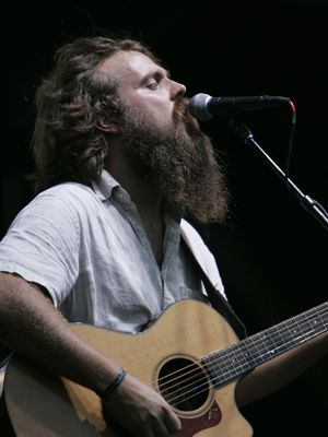 iron and wine on stage