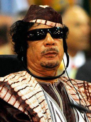 muammar qaddafi wearing sunglasses