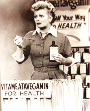 lucille ball from i love lucy eats vitameatavegamin