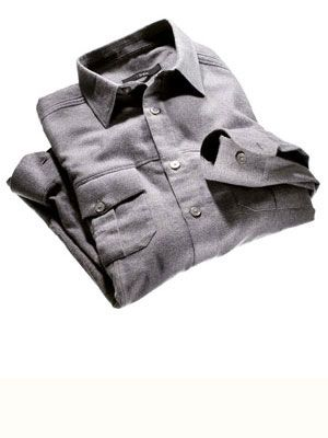 z zegna gray cotton shirt