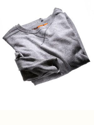 boss orange gray cashmere sweater