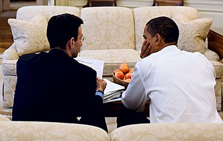 peter orzag and barack obama in oval office