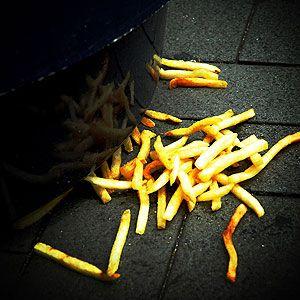fries on floor