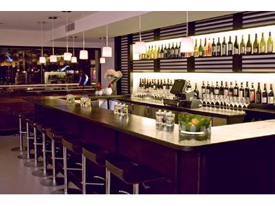 the bar of apiary restaurant in new york city