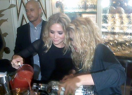 olsen twins bartending at fashions night out bergdorf goodman