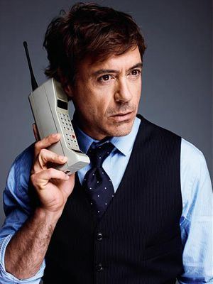 robert downey jr on the phone
