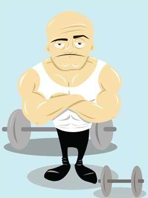 personal trainer illustration