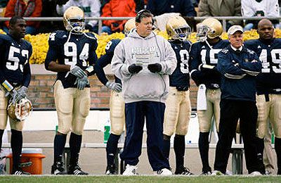 charlie weis sideline photo