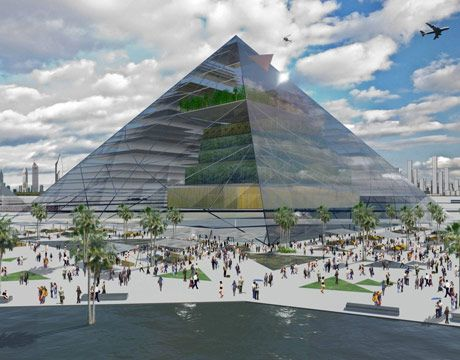 pyramid vertical farm concept by eric ellingsen and dickson despommier