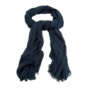 navy winter scarf