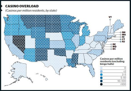 States With Casinos Map Nate Silver on Sin Tax   Casino and Gambling Industry in Recession