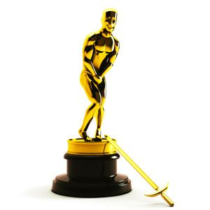 oscar statue with fallen sword
