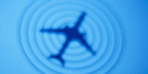 Blue, Electric blue, Aircraft, Azure, Majorelle blue, Airplane, Flight, Air travel, Cobalt blue, Aviation,