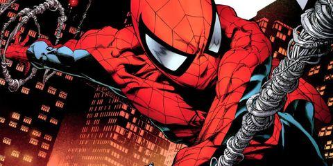 Spider-man, Fictional character, Red, Superhero, Cartoon, Avengers, Carmine, Hero, Fiction, Illustration,