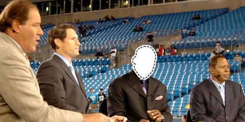 football analyst booth