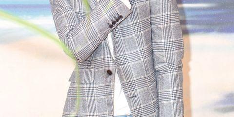 Dress shirt, Collar, Sleeve, Denim, Shirt, Textile, Jeans, Plaid, Pocket, Astronomical object,