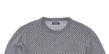 Product, Sleeve, Pattern, Textile, Collar, Neck, Black, Grey, Sweater, Pattern,
