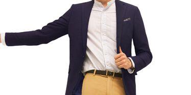 Brown, Product, Collar, Sleeve, Trousers, Dress shirt, Pocket, Coat, Shirt, Textile,
