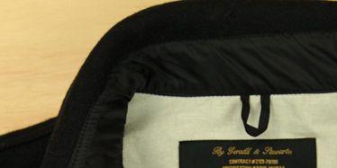 Sleeve, Textile, Collar, Logo, Symbol, Label, Sweater, Trademark, Brand, Active shirt,